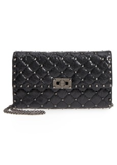 VALENTINO GARAVANI Rockstud Spike Crackle Wallet on a Chain