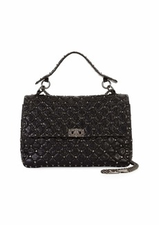 Valentino Garavani Rockstud Spike Large Chain Bag  Black