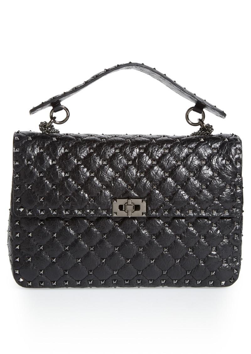 9fd80bb2d23 Valentino VALENTINO GARAVANI Large Rockstud Spike Crossbody Bag ...