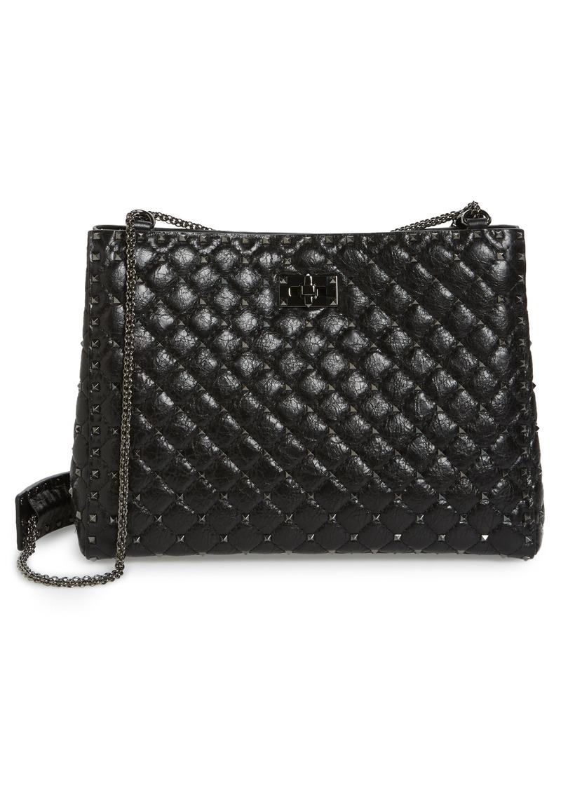4e2d84e9196 Valentino VALENTINO GARAVANI Rockstud Spike Leather Tote   Handbags