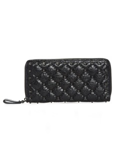 VALENTINO GARAVANI Rockstud Spike Matelassé Leather Continental Wallet
