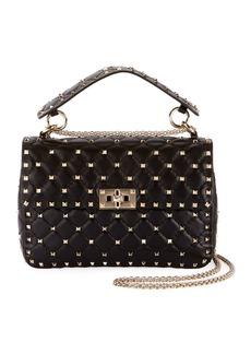 Valentino Garavani Rockstud Spike Medium Shoulder Bag  Black