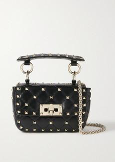 Valentino Garavani Rockstud Spike Micro Quilted Leather Shoulder Bag