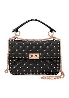 Valentino Garavani Rockstud Spike Quilted Patent Small Shoulder Bag
