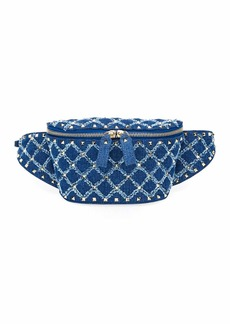 Valentino Garavani Rockstud Spike Small Denim Belt Bag