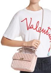 c51ad79063391 VALENTINO GARAVANI Rockstud Spike Velvet Shoulder Bag VALENTINO GARAVANI  Rockstud Spike Velvet Shoulder Bag