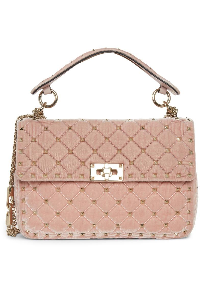 d68e32d055 SALE! Valentino VALENTINO GARAVANI Rockstud Spike Velvet Shoulder Bag