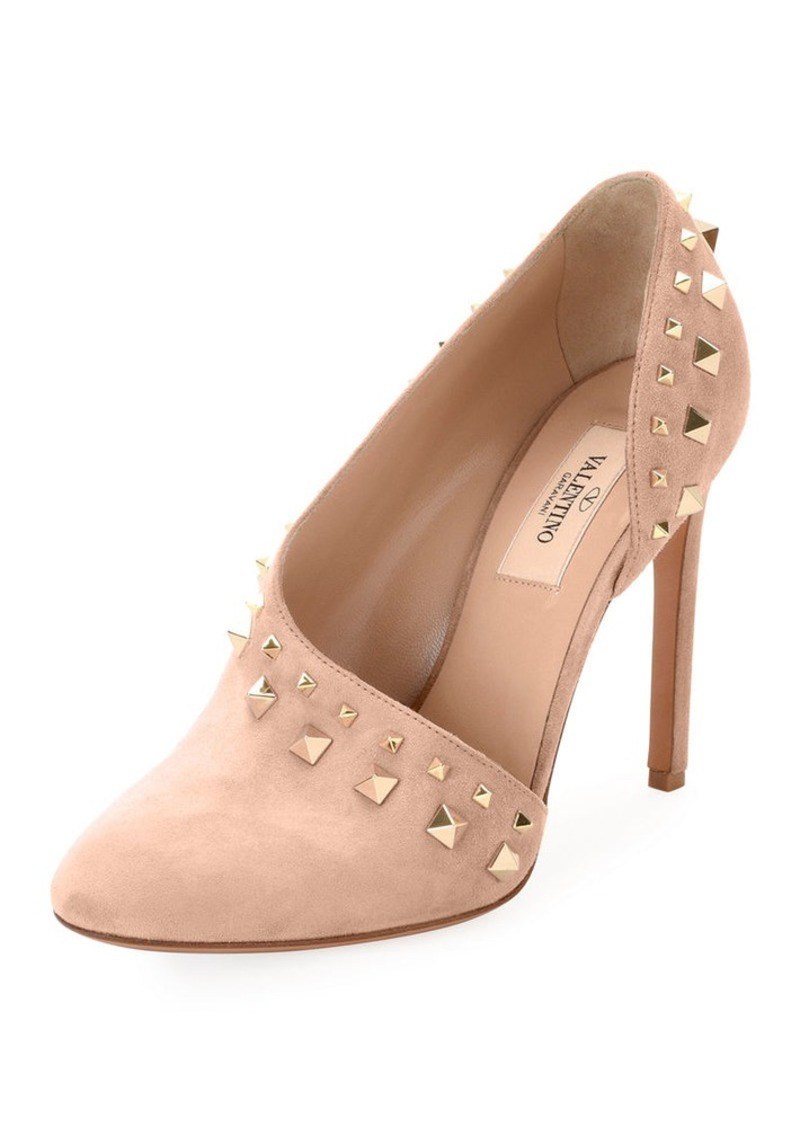 a270882f32fcd Valentino Valentino Garavani Rockstud Suede Half-d'Orsay Pump | Shoes