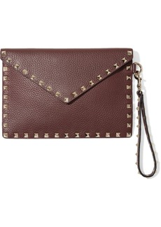 Valentino Garavani Rockstud Textured-leather Pouch
