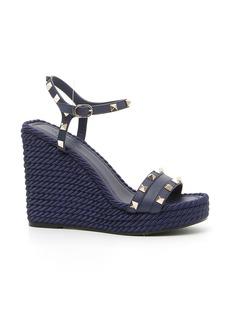 VALENTINO GARAVANI Rockstud Torchon Wedge Sandal (Women)