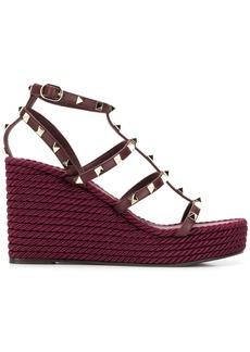 Valentino Garavani Rockstud Torchon wedge sandals