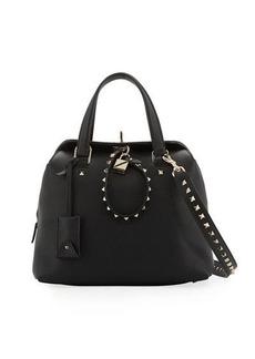 Valentino Rockstud Twiny Leather Duffel Bag