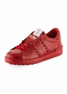 Valentino Rockstud Untitled Men's Leather Low-Top Sneaker