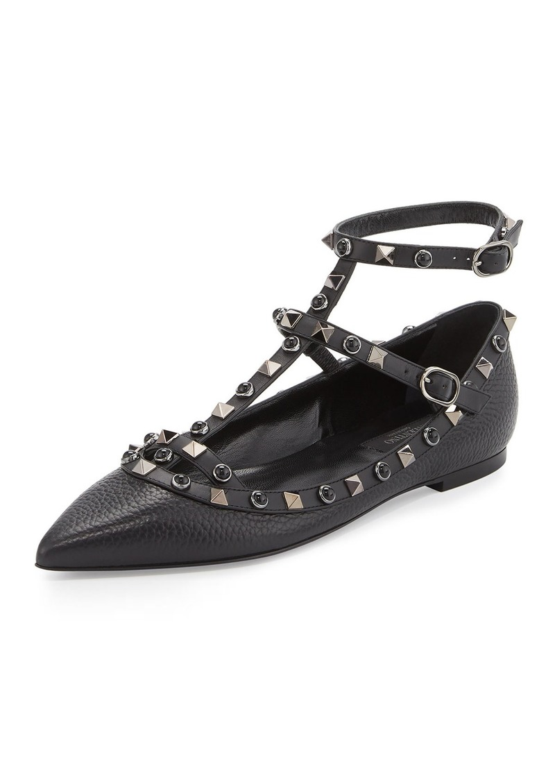 Valentino Rockstud Flat Shoes Sale
