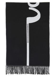 Valentino Garavani Signature Stripe Wool Jacquard Scarf