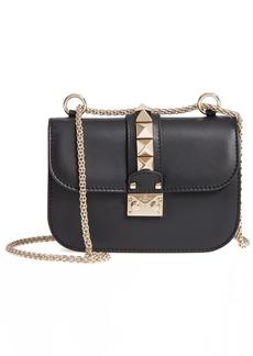 VALENTINO GARAVANI Small Lock Leather Crossbody Bag