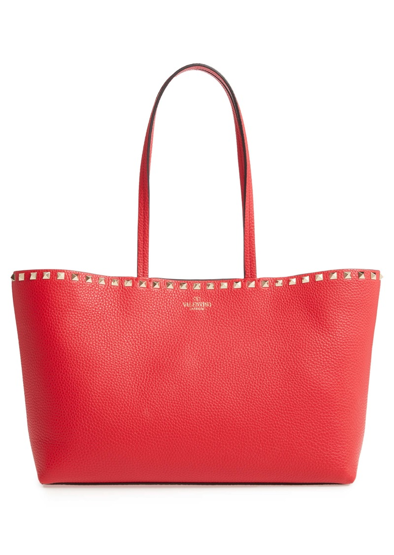 Valentino Garavani Small Rockstud Leather Tote