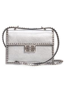 VALENTINO GARAVANI Small Rockstud No Limit Metallic Leather Shoulder Bag