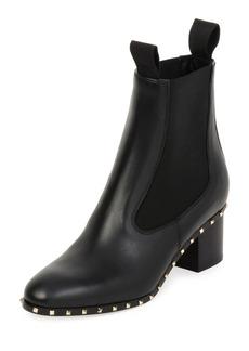 Valentino Garavani Soul Stud Leather Chelsea Boot