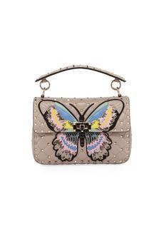 Valentino Garavani Spike It Medium Butterfly Shoulder Bag