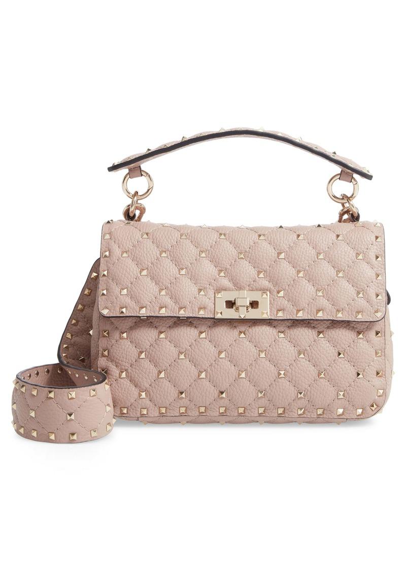 Valentino GaravaniSpike Up Matelassé Calfskin Leather Shoulder Bag