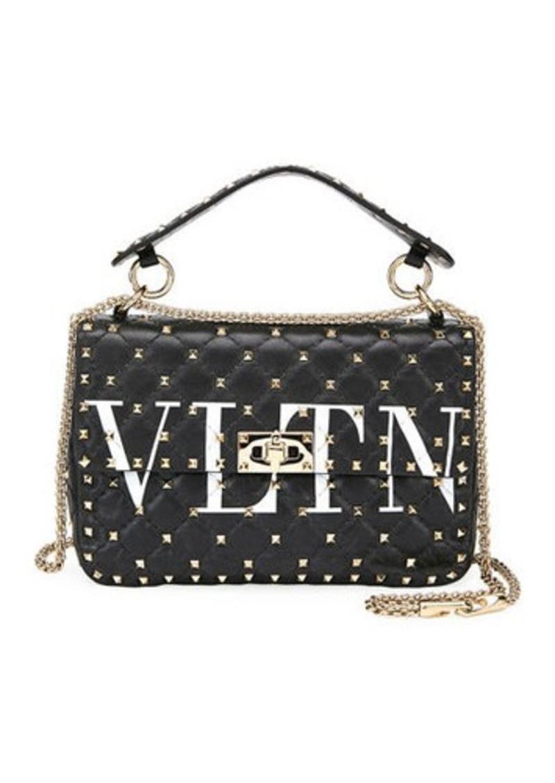 a1113c03c2 Valentino Garavani Spike.It Medium VLTN Logo Quilted Leather Shoulder Bag