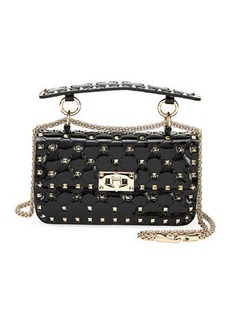 Valentino Garavani Spike.It Small Quilted Patent Leather  Shoulder Bag