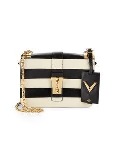 VALENTINO GARAVANI Striped Leather Shoulder Bag