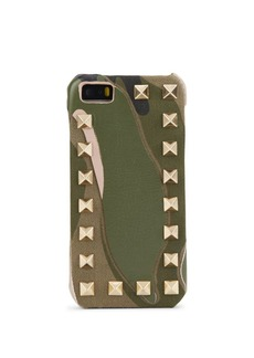 Valentino Studded Camouflage Print Leather iPhone 5/5S Case