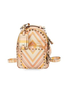 Valentino Garavani Studded Printed Backpack
