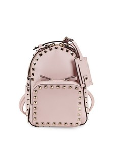 Valentino Studs Accent Leather Backpack