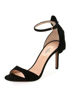 Valentino Garavani Suede Bow-Heel Sandals