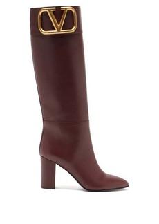 Valentino Garavani Supervee V-logo knee-high leather boots