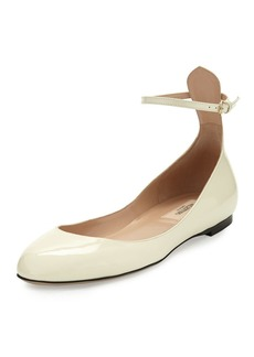 Valentino Garavani Tango Patent Ankle-Strap Flat