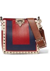 Valentino Garavani The Rockstud Hobo Mini Textured-leather Shoulder Bag
