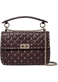Valentino Garavani The Rockstud Spike Small Quilted Leather Shoulder Bag