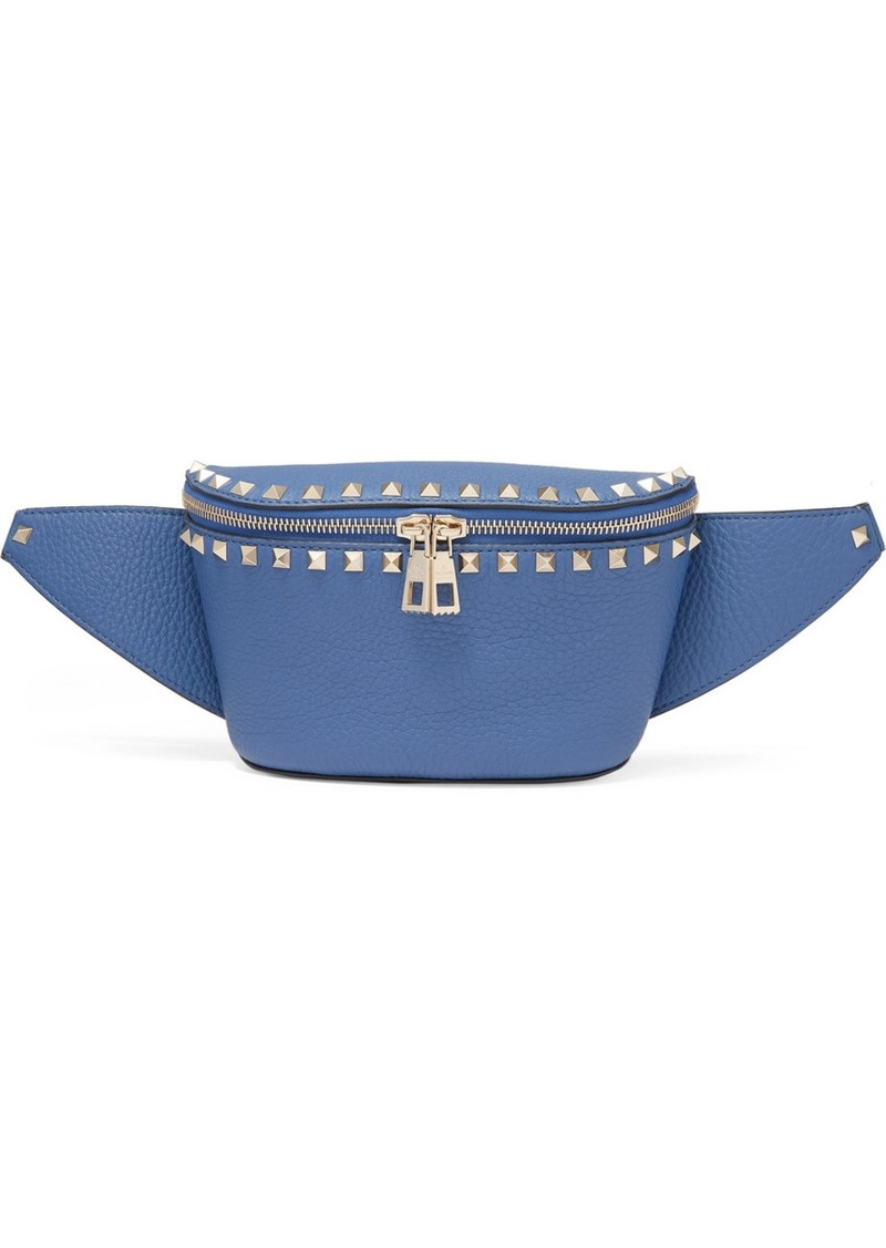 Valentino Garavani The Rockstud Textured-leather Belt Bag