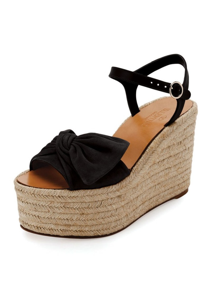 e5e79658bc On Sale today! Valentino Valentino Garavani Tropical Bow Espadrille ...