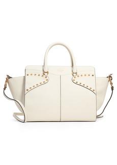 VALENTINO GARAVANI Twinkle Studs Double Handle Leather Bag