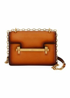 Valentino Garavani Uptown Small Burnished Calf Leather Shoulder Bag