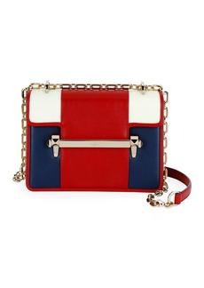Valentino Garavani Uptown Small Colorblock Leather Shoulder Bag