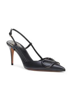 Valentino Garavani VLOGO Pointed Toe Slingback Pump (Women)
