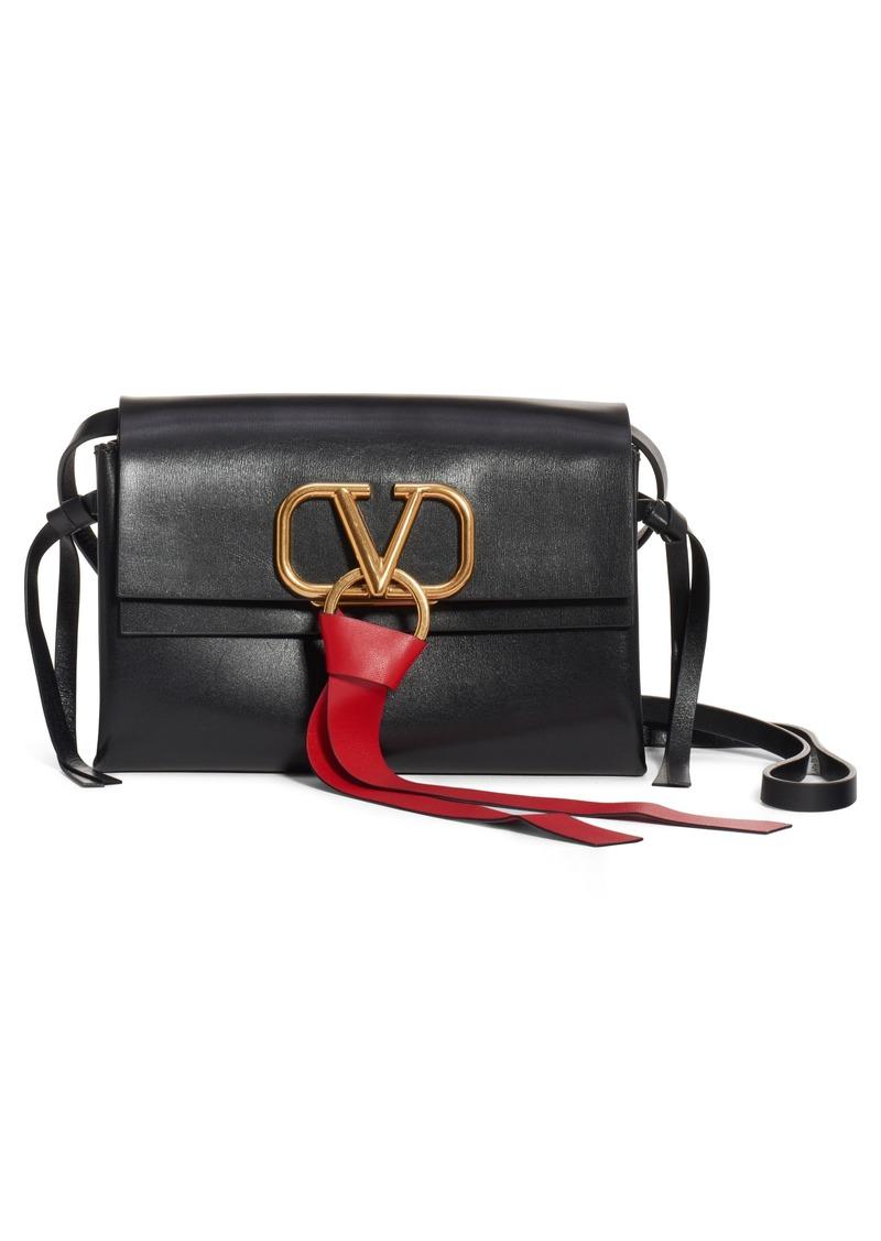 Valentino Garavani V-Ring Leather Crossbody Bag