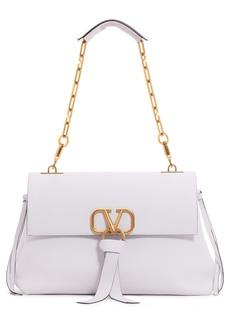 VALENTINO GARAVANI V-Ring Leather Shoulder Bag
