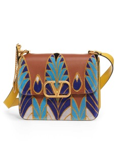 VALENTINO GARAVANI V-Sling Embroidered Shoulder Bag
