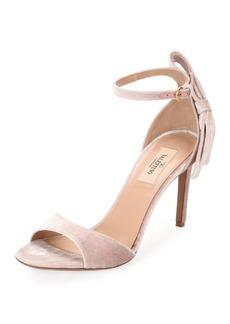 Valentino Garavani Velvet Bow-Heel Sandal