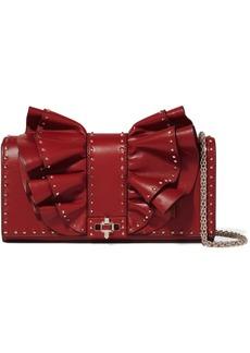 Valentino Garavani Very V Studded Ruffled Leather Shoulder Bag
