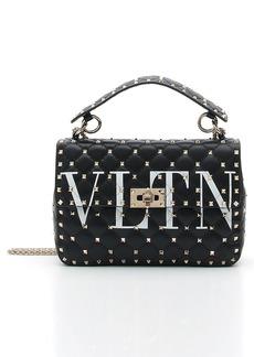 VALENTINO GARAVANI VLTN Logo Candystud Lambskin Top Handle Satchel