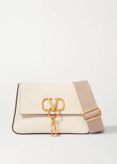 Valentino Garavani Vring Textured-leather Shoulder Bag