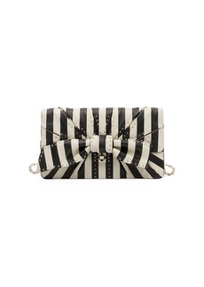 Valentino Garavani V.Stripes Bow Clutch Bag